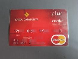 Invalided Master Credit Card, Renfe (train)Tarjeta Dorada - Espagne