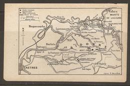CARTE PLAN 1921 - ROCHERS TREMBLANTS - SIDOBRE LACROUZETTE ROQUECOURBE St SALVY BURLATS CASSE CAILLOUX JUMEAUX VALAT - Cartes Topographiques