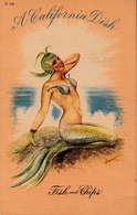 Comics Humor Comic Comique Humour - Sexy Lady Mermaid - California Dish - Fish & Chips - 2 Scans - Humour