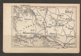 CARTE PLAN 1921 - CAUSSE De GRAMAT MAYRIGNAC RIGNAC LAVERGNE PADIRAC MIERS ROCAMADOUR LA CAVE PANNONIE - Topographische Kaarten
