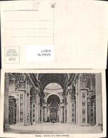 618217,Vatikan Vaticano Rom Roma Basikica Di S. Pietro Interno Peterskirche Innenansi - Cartes Postales