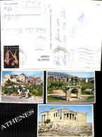 618099,Mehrbild Ak Athen Athenes Tempel Tracht Volkstypen Greece - Griechenland
