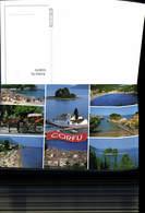 618079,Mehrbild Ak Korfu Corfu Kutsche Strand Greece - Griechenland