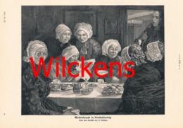 860 A. Wilckens Wochenbesuch Nordschleswig Druck 1904 !! - Prints