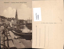 618066,Kopenhagen Kobenhavn Gammel Strand Nicolai Kirken Hafen Boote Denmark - Cartes Postales