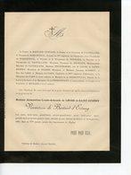 AVOISE 72 CHATEAU DE  DOBERT FAIRE-PART DE DECES DE LA VICOMTESSE DE BASTARD D'ESTANG 1890 - Obituary Notices