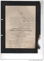 Baron De Steenhault De Waerbeke Senateur Conseiller Provincial Comice Agricole Hérinnes Bourgmestre Vollezele °1840+1906 - Obituary Notices
