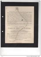 Paul Comte De Smet De Naeyer Ministre Etat Senateur °Gand 1843+1913 Oostakker Bruxelles Verhaeghe Morel De Westgaver - Obituary Notices
