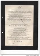 Baron De Steenhault De Waerbeke Senateur Conseiller Provincial Bourgmestre Vollezele °1871+1939 Chambre Provincial Agric - Obituary Notices