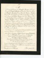 BRUXELLES FAIRE-PART DECES S.A.S. ALFRED CHARLES AUGUSTE CONSTANTIN DUC DE BEAUFORT MARQUIS PRINCIER DE SPONTIN 1888 - Obituary Notices