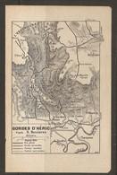 CARTE PLAN 1921 - GORGES D'HERIC L'ESPINOUSSE DOUCH BARDOU Le COSTE TARASSAC Les PRADALS La TRAVALLE - Cartes Topographiques