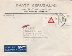 BUSTA VIAGGIATA  AIR MAIL - TURCHIA - ISTANBUL - DAVIT JERUZALMI - HALEFI SULTANA - VIAGGIATA PER MILANO / ITALIA - 1921-... Repubblica