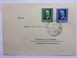 GERMANY 1940 Cover Marburg To Kronberg Im Taunus - Marburg Sonderstempel Von Behring Set - Germany