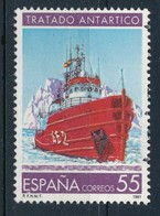 Spanien 1991 Mi. 3024 Gest. Antarktis Schiff Eis - 1931-Heute: 2. Rep. - ... Juan Carlos I