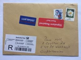 GERMANY 2007 Air Mail Registered Cover + Signature Required Sticker - [7] République Fédérale