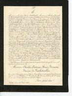 ST JEAN BONNEFONDS CHATEAU DE NANTAS 42 FAIRE-PART DE DECES DE C.A.H. BARNOU BARON DE ROCHETAILLEE 1887 - Obituary Notices
