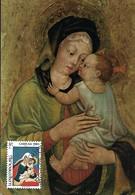 1980  -  MUSEO DI BASSANO DEL GRAPPA - Heilige Jungfrau Mit Kind - Madonne Avec L'Enfant Caritas Timbre - Cartes Maximum