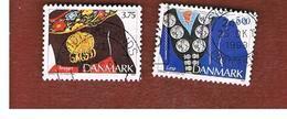 DANIMARCA (DENMARK)  -   SG 1013.1014  -  1993 TRADITIONAL JEWELLERY - USED ° - Danimarca
