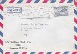 BUSTA VIAGGIATA  PAR AVION - FINLANDIA - TURKU- OY WILLIAM FORCK LTD - VIAGGIATA PER MILANO / ITALIA - Finlandia