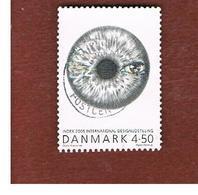 DANIMARCA (DENMARK)  -   SG 1416  -  2005  DESIN: INDEX (EYE)    -   USED ° - Usati