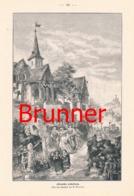 871 Brunner Altdeutsche Hochzeit Kirche Druck 1899 !! - Prints