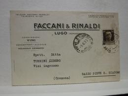 LUGO  --- RAVENNA  ---  FACCANI &  RINALDI  -- COMMISSIONARIO  VINI  -- ALCOOL - Vigne