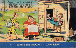 Comics Humor Comic Comique Humour - Write Me Soon - I Can Read - 2 Scans - Humour