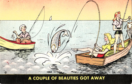 Comics Humor Comic Comique Humour - Young Ladies Fishing - 2 Scans - Humour