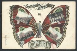 +++ CPA - Carte Fantaisie - Papillon - Souvenir Affectueux De BRUGELETTE - Multivues    // - Brugelette