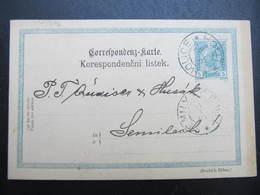 GANZSACHE Holice - Semily Mestsky Urad 1904 Korrespondenzkarte /// D*38745 - Briefe U. Dokumente
