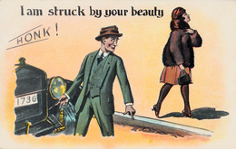 Comics Humor Comic Comique Humour - I Am Struck By Your Beauty - Lady - 2 Scans - Humour