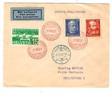 PR6541/ Lettre Avion Tour Aér.d'Europe Genève-Bellinzona 21/8/1932 V.Bellinzone C.d'arrivée - Erst- U. Sonderflugbriefe