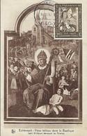 10.11.1987  -  ECHTERNACH - VIEUX TABLEAU DANS LA BASILIQUE  -  Saint Willibrord Bénissant Les Pèlerins  E.A.Schaack,Lux - Cartes Maximum
