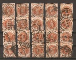 Grande-Bretagne - 1887/1900 - Victoria - YT 91 - Petit Lot De 20° Pour étude - Kilowaar (max. 999 Zegels)
