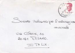 BUSTA VIAGGIATA  - BELGIO - HERVE - VIAGGIATA PER MILANO / ITALIA - Belgio