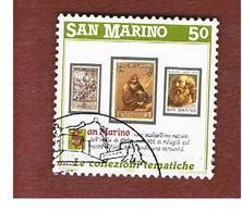 SAN MARINO - UNIF. 1223  - 1988  FILATELIA TEMATICA: S. MARINO     -  USATI (USED°) - Oblitérés
