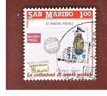 SAN MARINO - UNIF. 1253  - 1989 COLLEZIONI DI STORIA POSTALE: LE TARIFFE    -  USATI (USED°) - Oblitérés