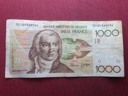 BELGIQUE Billet De 1000 Francs Ayant Circulé - [ 2] 1831-... : Royaume De Belgique