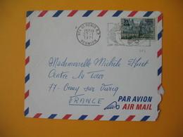 Lettre De La Réunion CFA  1971  N° 364  Saint Denis  Pour La France - Reunion Island (1852-1975)