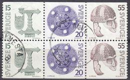 SVERIGE - SVEZIA - SWEDEN - 1975 - Yvert 874b, 875, E 876b Usati, Uniti Fra Loro, Come Da Immagine. - Svezia