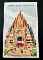 GUERIN BOUTRON CHOCOLAT INDE FRANCAISE PAGODE THEATRE  EXPOSITION 1900 CHROMO TRADE CARD VUES MONUMENTS INDIA PAGODA - Guérin-Boutron