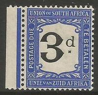 South Africa - 1915 Postage Due 3d MNH ** (damaged Serif Variety)  SG D4v  Sc J4v - Postage Due