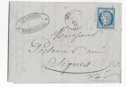 1873 - VAR - LETTRE FACTURE ILLUSTREE De BRIGNOLES - FABRIQUE D'ALLUMETTES => SIGNES - Marcophilie (Lettres)