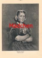 891 Fr. Prölß Ostfriesisches Ostfriesland Mädchen Druck 1911 !! - Prints