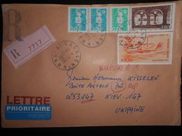 France , Lettre Recommandee De Cadalen 1996 Pour Kiev - France