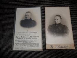 Doodsprentje ( G 841 ) + Foto Op Hard Karton - Claerbout / Baekelandt - Heule Gullegem - Roesler Bolle Courtrai Kortrijk - Obituary Notices
