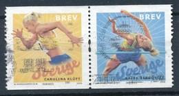 Schweden 2006 Mi. 2538 - 2539 Zd Gest. Leichtathletik - EM Läuferin Hochspringerin - Schweden