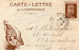 """C.L- De L'Espérance- """"  Vive La France""""- Médaillon Joffre- - (E S- 3) - Cartes De Franchise Militaire"""