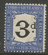 South Africa - 1915 Postage Due 3d MNH ** (thick 'd' Variety)  SG D4v  Sc J4v - Postage Due