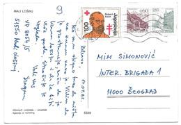 Yugoslavia 1982 Robert Koch Red Cross Anti Tuberculosis Obligatory Tax On Card Croatia Mali Losinj - 1945-1992 République Fédérative Populaire De Yougoslavie